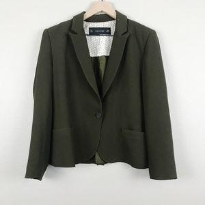 Zara Basic | Dark Olive Green Blazer (sz L)